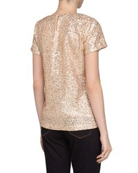 French Connection - Metallic Cupid Mini Sequins Tee - Lyst