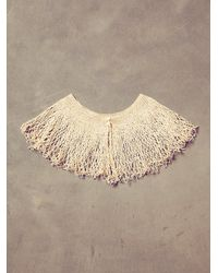 Free People | Natural Vintage Cream Crochet Collar | Lyst