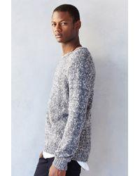 Cheap Monday   Gray Crew Knit Sweater Melange for Men   Lyst
