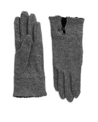 Lauren by Ralph Lauren | Gray Boucle Cuffed Wool Gloves | Lyst