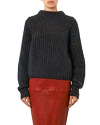 Isabel Marant - Blue Newt Chunky-knit Navy Sweater - Lyst