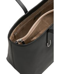 HUGO | Black Leather Shopper: 'nadalia' | Lyst