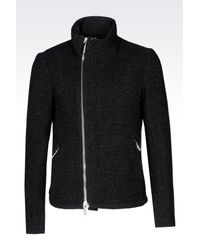 Emporio Armani | Black Mid-length Jacket for Men | Lyst