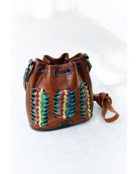 Frye | Brown Heather Woven Leather Bucket Bag | Lyst