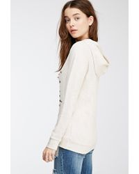 Forever 21 - Natural Hello Goodbye Graphic Hoodie - Lyst