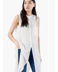 Mango | Natural Flowy Blouse | Lyst