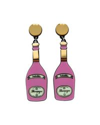 Yazbukey - Pink Champagne Earring - Lyst