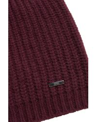 HUGO - Red 'xaffano' | Virgin Wool Skull Cap for Men - Lyst