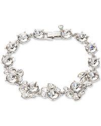 Givenchy | Metallic Rhodium-Tone Crystal Cluster Flex Bracelet | Lyst