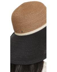 Inverni - Iris Hat - Brown/Natural/Black - Lyst