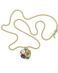 Kenneth Jay Lane | Multicolor Multi-color Flower Pendant | Lyst