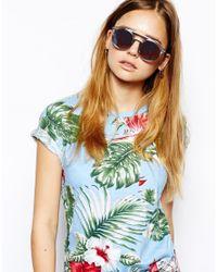 Le Specs Metallic Black Lagoon Sunglasses