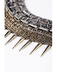 Urban Outfitters - Metallic Thick Chain Spike Collar Necklace - Lyst
