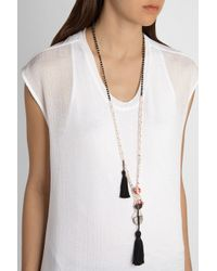 Zeus+Dione - Black Tasseled Freshwater Pearl And Onyx Necklace - Lyst