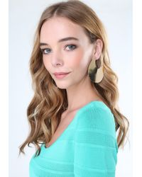 Bebe - Metallic Modern Disc Earrings - Lyst