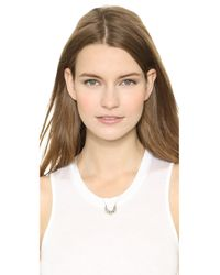 Pamela Love - Metallic Mini Tribal Spike Pendant Neckalce - Silver - Lyst
