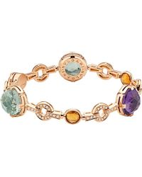 BVLGARI - Purple Parentesi Cocktail 18ct Pink-gold Bracelet - For Women - Lyst