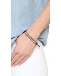 Marc Jacobs - Metallic Rope Friendship Bracelet - Lyst