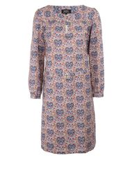A.P.C. | Red Agathe Liberty Heart Print Belted Cotton Dress | Lyst