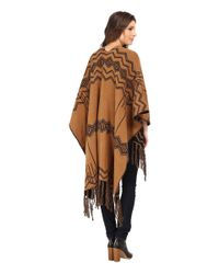 Pendleton   Black Knit Blanket Shawl   Lyst