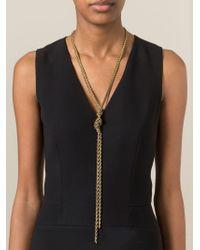 Lanvin   Metallic Braided Necklace   Lyst