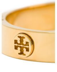 Tory Burch - Metallic Logo Bangle Bracelet - Lyst
