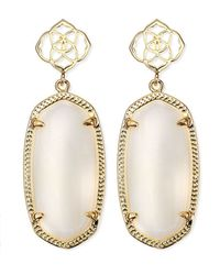 Kendra Scott | Debbie Glass Drop Earrings White | Lyst