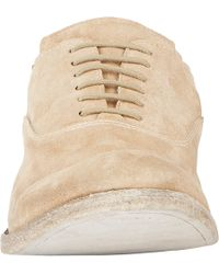 Shoto - Natural Suede Cap-Toe Balmorals for Men - Lyst