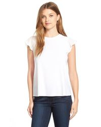 Cece by Cynthia Steffe | Natural Chiffon Sleeve Tee | Lyst