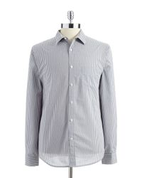 Perry Ellis | White Micro Gingham Check Slim Fit Sportshirt for Men | Lyst