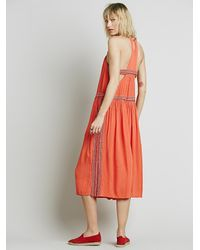 Free People - Orange Womens Ares Sleeveless Jumpsuit - Lyst