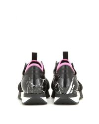 Balenciaga - Purple Race Runner Fabric And Leather Sneakers - Lyst