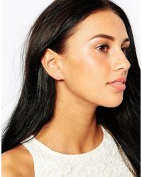 Estella Bartlett | Metallic Gold Plated Buttercup Stud Earrings | Lyst
