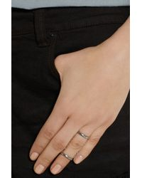 Pamela Love Metallic Chain Serpent Silver Sapphire Ring
