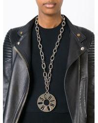 Moschino | Metallic Logo Pendant Necklace | Lyst