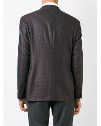 Canali - Brown Checked Blazer for Men - Lyst
