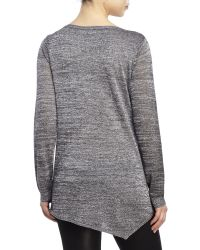 Premise Studio - Black Asymmetrical Lurex Sweater - Lyst