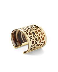 BCBGMAXAZRIA | Metallic Faux Horn Cutout Cuff | Lyst