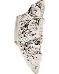 Givenchy - Metallic Silver Crocodile Skin Ring - Lyst