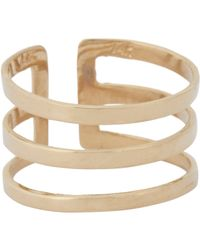 Loren Stewart - Metallic Gold Midi Cuff Ring-colorless Size 3 - Lyst