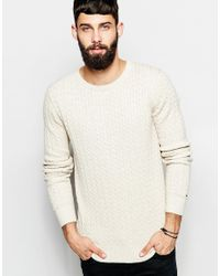 Hilfiger Denim | Natural Cable Jumper In White for Men | Lyst