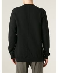 DRKSHDW by Rick Owens - Black Crew Neck Sweatshirt for Men - Lyst