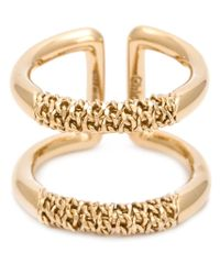 Chloé | Metallic Double Ring | Lyst