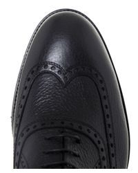 Stemar | Black Merano Leather Oxford Shoes for Men | Lyst