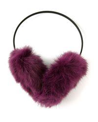 Meteo by Yves Salomon - Purple Ear Muffs - Lyst