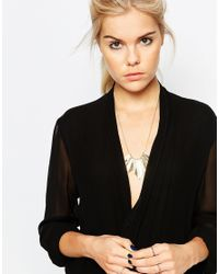 Pieces - Metallic Ysse Necklace - Lyst