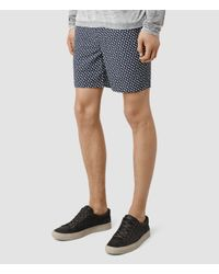AllSaints | Black Love Swimshort for Men | Lyst