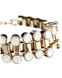 French Connection - Metallic Cup Chain Bracelet - Lyst