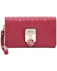 Guess - Red Rosalind Phone Organizer - Lyst