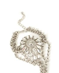 Forever 21 - Metallic Rhinestone Medallion Hand Chain - Lyst